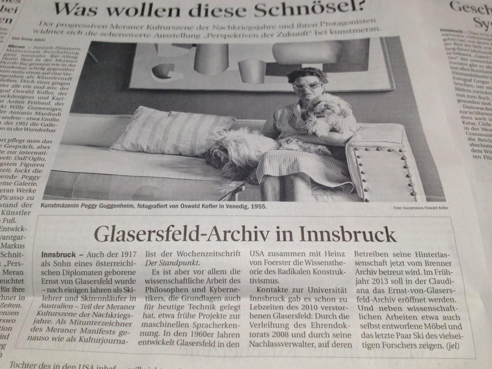 Erster Pressebericht, Tiroler Tageszeitung, 18. 12. 2012