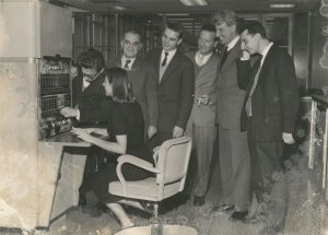 In Milan with Silvio Ceccato (second from right), 1960s
