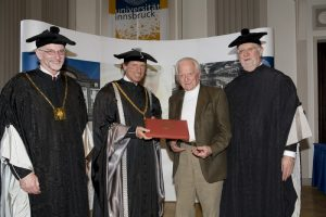 Receiving honorary doctorate from theUniversity of Innsbruck